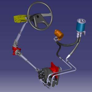 Servosteering hydraulic system